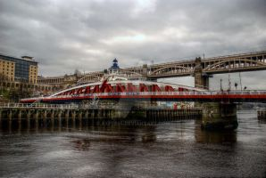 HDR Tyne Swing Bridge by axp7884