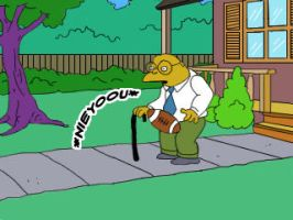 Man Getting Hit By Football by Simpsons-Addict