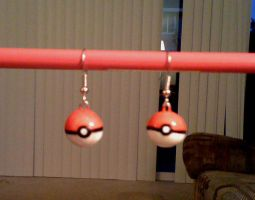Pokeball Earrings by Red-Flare