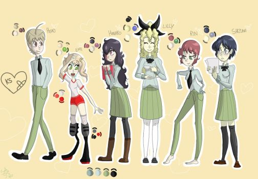 Katawa Shoujo Gang by Sax-and-Solo