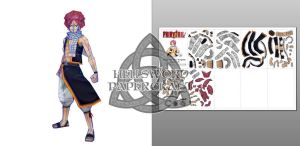Fairy Tail Natsu Dragneel Papercraft Preview by HellswordPapercraft