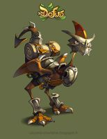 Dofus armored dragoturkey by Catell-Ruz