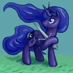 Luna with Claymore by Dahtamnay