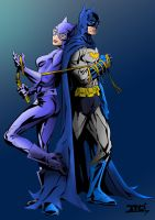 Batman And Catwoman by Echudin