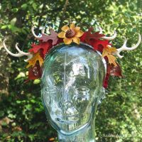 Autumn Antler Crown by Beadmask