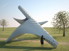 Spatial Curve Monument by LuxXeon