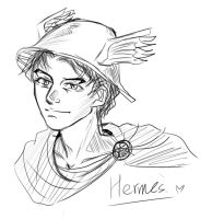 Hermes sketch by skylord1015