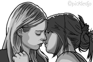 Sian and Sophie Webster The First Kiss by pickledjo