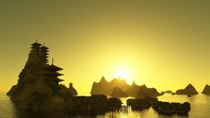 Asian temple islands by chakotay02