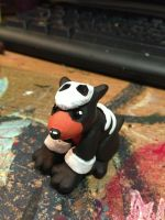 Houndour Painted! by omfgitsbutter