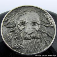 'The Eternal Optimist' Carved Coin by Shaun Hughes by shaun750