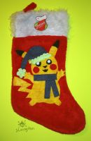 Pikachu Stocking (Winter Outfit 3) by MeMiMouse