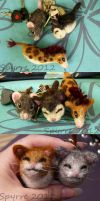Felted blob-animals by Spyrre