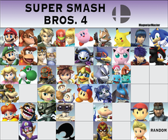 Super Smash Bros. 4 Fanmade Roster: Part 2 by MagnetarMaster