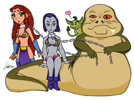 Teen Titan with Jabba by AndronicusVII