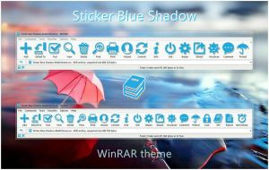 Sticker Blue Shadow WinRAR theme by alexgal23