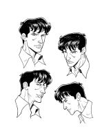 Dylan Dog Model faces by Decalnero
