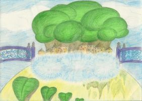 Greenery in a Fantasy World by Therolieum