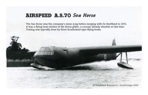 Airspeed A.S. 70 Sea Horse by Bispro