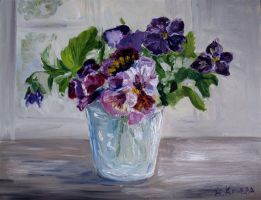 Still life with field pansy by Alekra81