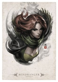 Windranger Portrait by Artgerm