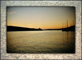 Sunset in Cres Croatia by ArtandMore