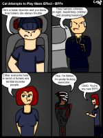 Cat Attempts to Play Mass Effect - BFFs by GohokeKitty