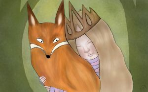 The Princess and the Fox by shioneh