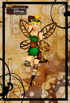Steampunk Tinkerbell by HelleeTitch