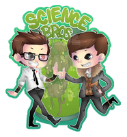 Science Bros Sticker by BluevanDeurs