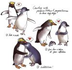 Penguin love by Paperflower86
