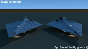 halcon MK1 and MK2 by gmd3d