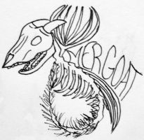 Skeletal Mergoat Icon by SeaGoatInk