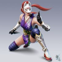Kunimitsu in Tekken tag tournament 2 by LIN-JIN17