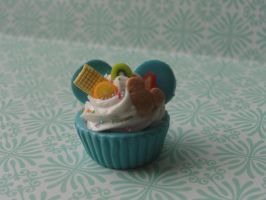Cute Clay Mickey Mouse Cupcake by CraftyOlivia