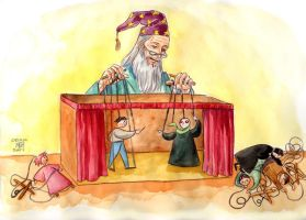 Dumbledore the puppetmaster by cabepfir