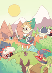 Link and Monsters by xephia