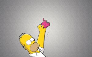 Homer Simpson And Apple by yavuzaslan