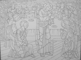 WIP Design complete 'Last Supper' by jfkpaint