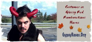 Customer in Glossy Red Rambunctious Horns by che4u