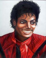 Michael Jackson Thriller Portrait by pseppy1