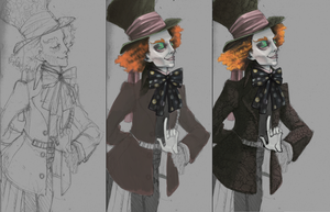 Burton's Mad Hatter WIP by GollyAbsolutely