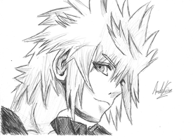 Roxas Side (Sketch) by AndrewScrolls