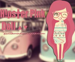 Hipster Pink Doll by gisellitamendler