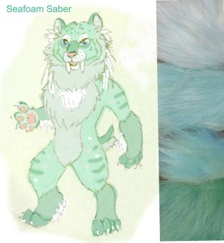 Seafoam Saber Fursuit FOR SALE by LilleahWest