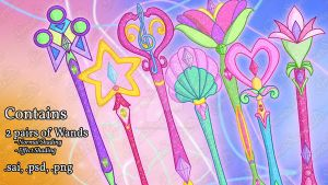 Winx - Mythix Scepters Pack by GreatSecretxD