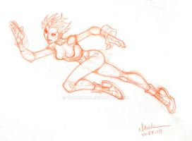 Running Girl sketch by ToddNauck