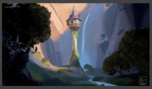 Color study 1 - Tangled by leticiakao
