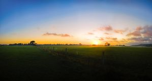 Misty Morning Pano by mark-flammable