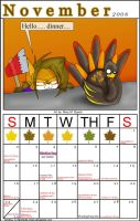 November 2008 Calendar by MidNight-Vixen
